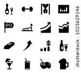 solid vector icon set   wine... | Shutterstock .eps vector #1023629146
