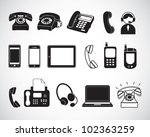 set of phone icons | Shutterstock .eps vector #102363259