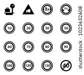 solid vector icon set   baggage ...   Shutterstock .eps vector #1023632608