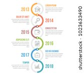 vertical timeline infographics... | Shutterstock .eps vector #1023633490