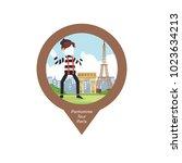 pantomime tour paris pin map | Shutterstock .eps vector #1023634213