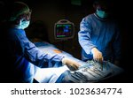 asian doctor operating in... | Shutterstock . vector #1023634774