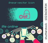 padlock and key icon vector. | Shutterstock .eps vector #1023636934