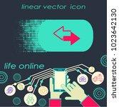 line arrow icon | Shutterstock .eps vector #1023642130