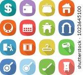 flat vector icon set   dollar... | Shutterstock .eps vector #1023645100