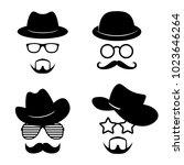 man faces with glasses ...   Shutterstock .eps vector #1023646264