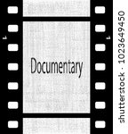 a strip of film with the text... | Shutterstock . vector #1023649450