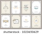 vintage creative cards template ... | Shutterstock .eps vector #1023650629