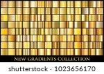 gold gradient set background...   Shutterstock .eps vector #1023656170