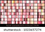 rose gold gradient set... | Shutterstock .eps vector #1023657274
