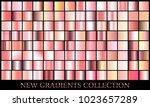 rose gold gradient set... | Shutterstock .eps vector #1023657289