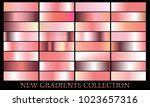 rose gold gradient set... | Shutterstock .eps vector #1023657316