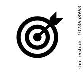 arrow in center of board. flat... | Shutterstock . vector #1023658963