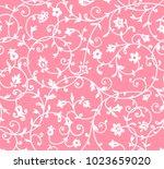 vintage floral pattern. rich... | Shutterstock . vector #1023659020