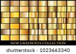 gold bronze gradient set... | Shutterstock .eps vector #1023663340