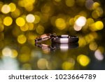 wedding rings. close up | Shutterstock . vector #1023664789