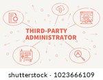 conceptual business... | Shutterstock . vector #1023666109