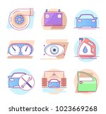 modern linear pictogram of auto ... | Shutterstock .eps vector #1023669268