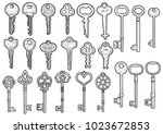 key illustration  drawing ... | Shutterstock .eps vector #1023672853