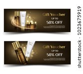 a beautiful cosmetic banner or... | Shutterstock .eps vector #1023675919