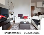 interior decoration of a living ... | Shutterstock . vector #102368008