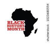 black history month vector...   Shutterstock .eps vector #1023680554