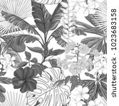 seamless pattern  background... | Shutterstock .eps vector #1023683158