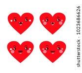 vector illustration. funny four ...   Shutterstock .eps vector #1023686626