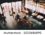 blurred background of cafe ... | Shutterstock . vector #1023686890