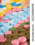 Small photo of MDMA (Extasy) distributed by drug dealer seized by legal authority - detail