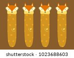 cute fox bookmark template with ...