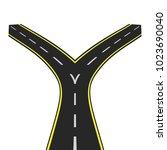 road junction. decision making. ... | Shutterstock .eps vector #1023690040
