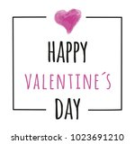 valentines day card with hearts.... | Shutterstock .eps vector #1023691210