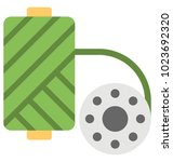 a flat icon of a green color...   Shutterstock .eps vector #1023692320