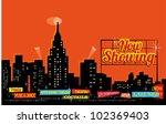 vintage retro city nightlife  ... | Shutterstock .eps vector #102369403