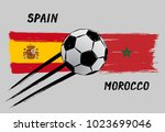 flags of spain and morocco  ...   Shutterstock .eps vector #1023699046