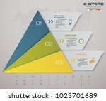 3 steps pyramid with free space ... | Shutterstock .eps vector #1023701689