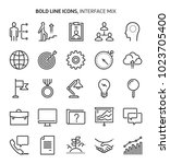 interface  bold line icons. the ... | Shutterstock .eps vector #1023705400