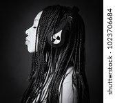 african young woman studio... | Shutterstock . vector #1023706684