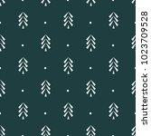 pine tree icon seamless vector...   Shutterstock .eps vector #1023709528