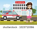 the  professional medical team... | Shutterstock .eps vector #1023710386