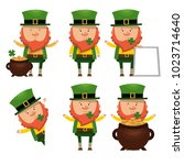 set of saints patrick. national ... | Shutterstock .eps vector #1023714640
