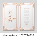 vintage retro style invitation... | Shutterstock .eps vector #1023714718