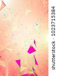 abstract background polygonal.... | Shutterstock . vector #1023715384