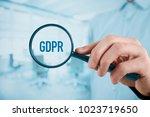 gdpr  general data protection... | Shutterstock . vector #1023719650