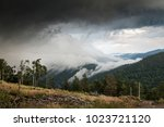 atmospheric clouds before storm ... | Shutterstock . vector #1023721120