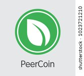peercoin   cryptocurrency... | Shutterstock .eps vector #1023721210