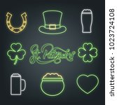 saint patrick's day. set of... | Shutterstock .eps vector #1023724108