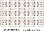colorful mosaic seamless... | Shutterstock . vector #1023726733