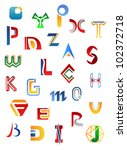 set of full alphabet symbols... | Shutterstock .eps vector #102372718